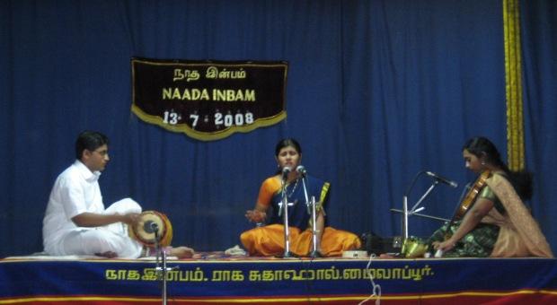 Ram's concert @ Naada Inbam, Raga Sudha Hall, Mylapore - 1