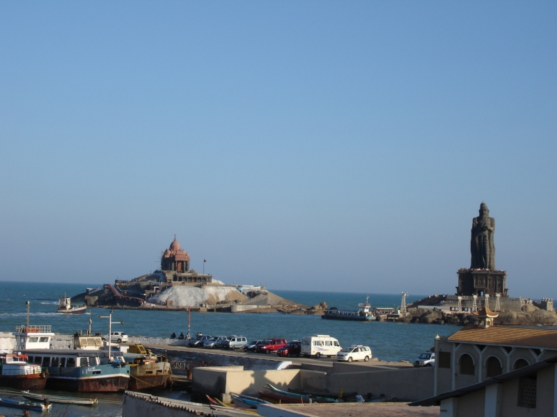 Vivekananda rock memorial and Thiruvalluvar Statue